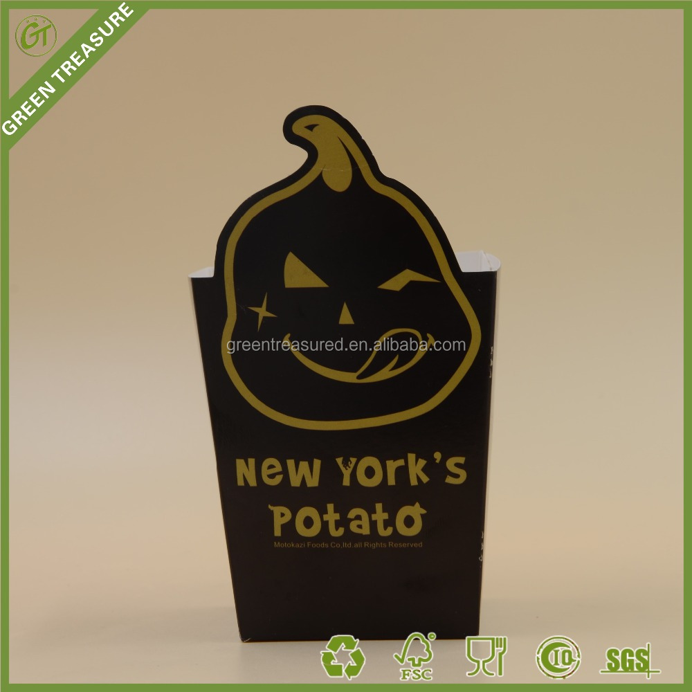 2016 Popular French Fries Potato Paper Cup French Fries Chips Paper Container