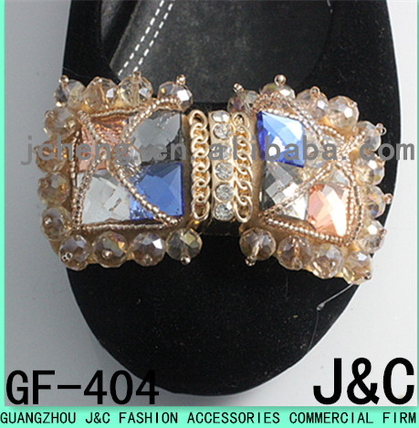 handmade crystal stone shoe ornament