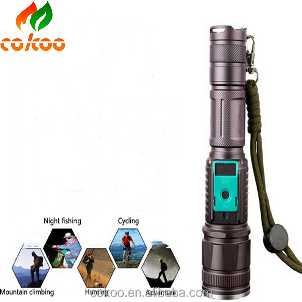 XM-L T6 zoom hunting led flashlight manufacturer offer low price flashlight torch