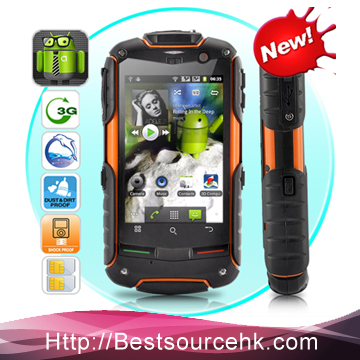Rock V5 mobile phone IP67 Rugged Phone Qualcomm MSM8225 Dual core 512M+4GB Rock V5 Pass CE cell phone