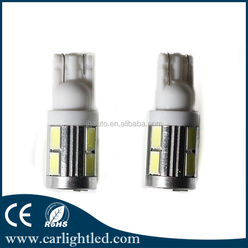 New desigh No Free Canbus 12v T10 5630 car led 10 smd auto bulb for car