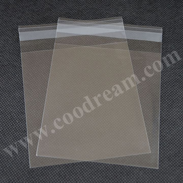 Recycled custom printed cellophane bags for packing resealable opp bopp plastic bag