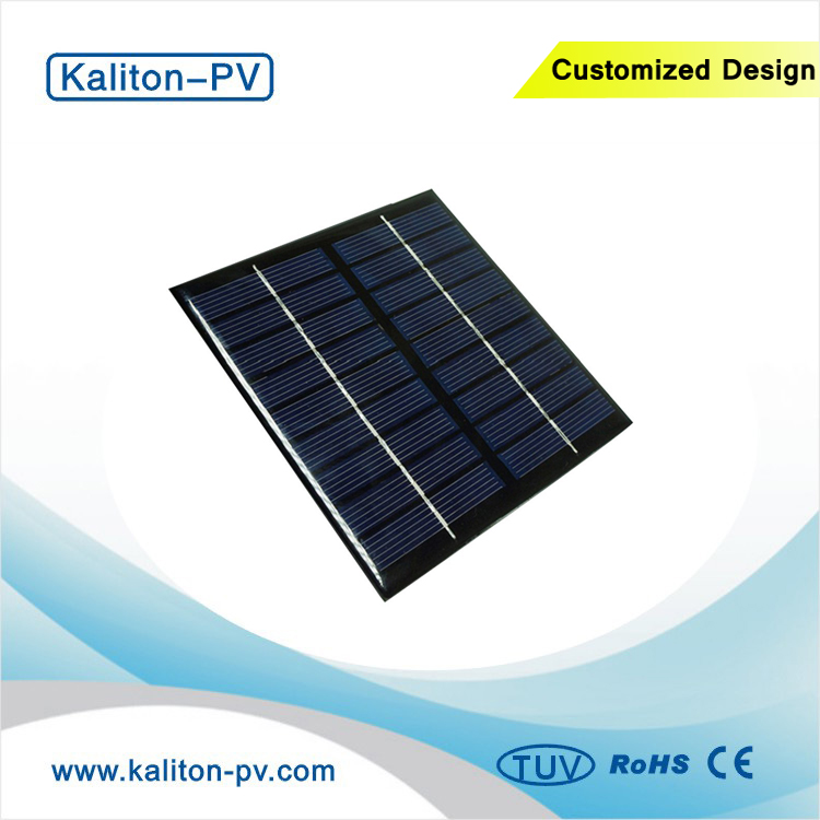 Customized Made Low Price 2W Watts 9V 115X115mm DIY Small Size Epoxy Polycrystalline Silicon Solar Panel for LED Light