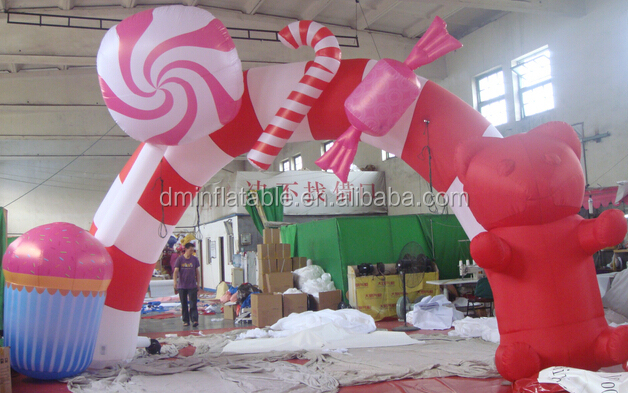 Hot !! 2014 inflatable advertising arch/christmas inflatable arch/ inflatable santa arch WK-33