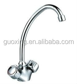 Double Handle Kitchen Faucet With Brass