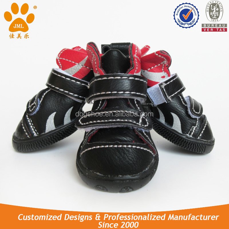 JML PU Leather Waterproof Dog Boots for Medium Sizes Dog Boots on Sale