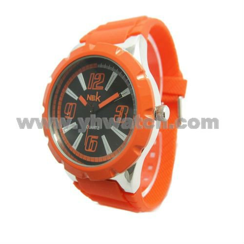 Newest Fashion orange watch factory selling sports watch for boys