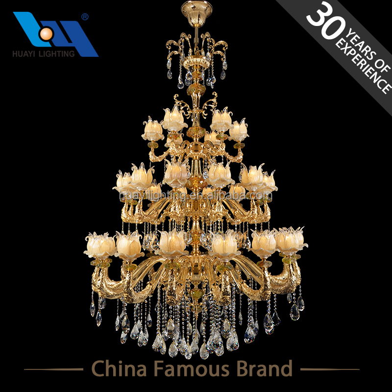 Energy Saving modern rectangular flower crystal chandelier