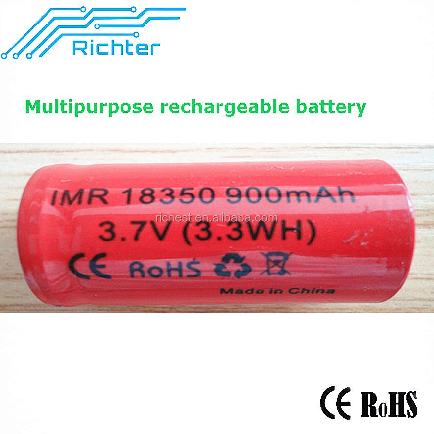 Richter marufacturer battery new arrival li ion battery 900mah 3.7v first power battery with CE,RoHS certificates