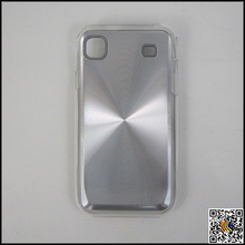CD pattern aluminum phone case transparent PC bottom phone shell hard back covers for Samsung i9000