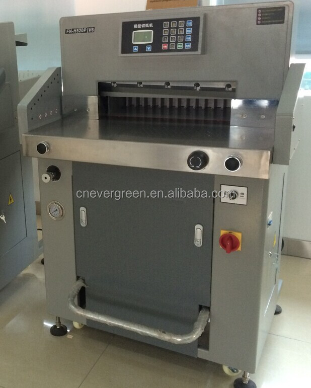 Computer program control paper cutter reasonable price, hydraulic small paper guillotine cutting machine