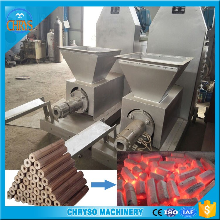Best choice wood charcoal/ soybeans husk briquette extruder machine for Barbecue