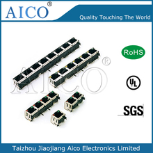 LAN Transformer PCB Connector with RJ45 Magnetic Choke Coil for PoE Filters