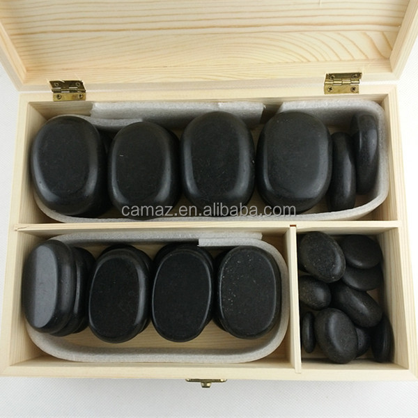60pcs basalt hot spa stone for tradiational massage on sale