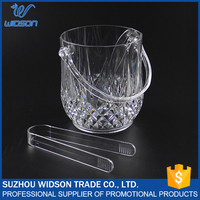 1000ml clear acrylic ice bucket wholesale with tongs
