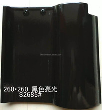 New arrival solar roof tiles black clay ceramic Spanish roof tiles