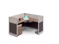 Hight quality cheap price new modern design office workstation with 30mm thickness aluminum frame office partition
