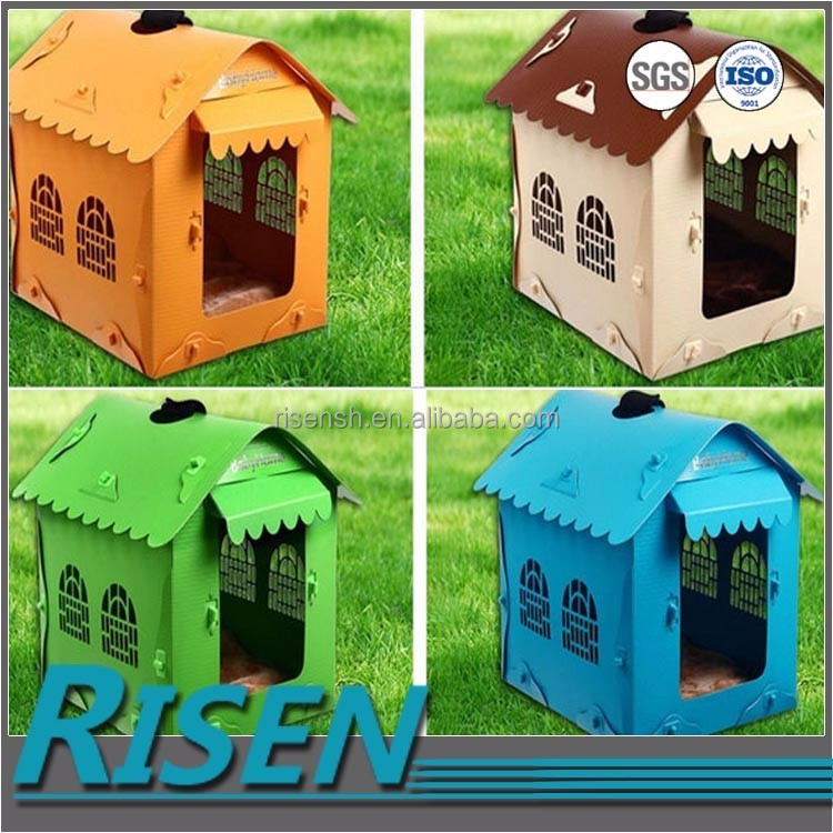 PP plastic sheet made durable coroplast plastic pet house with custom printing