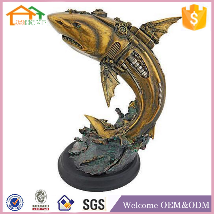 Factory Custom made best home decoration gift polyresin resin goldfish figurines