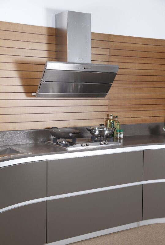2017 Modern prefab high gloss kitchen cabinet