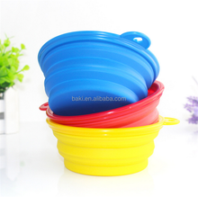 8colors Silicone Pet Dog Travel Bowl Plastic Collapsible Dog