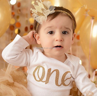 New Arrival Cute Products Popular Lace 3D Crown Kids Baby Headband for Brithday
