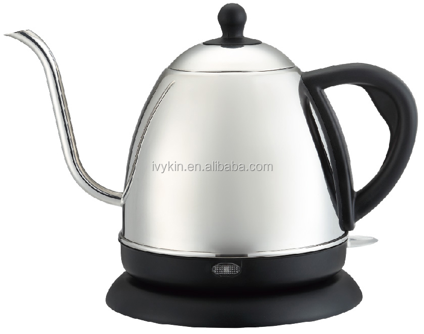 Electric coffee kettle 1000ml stainless steel Pour over coffee drip pot/coffee kettle/coffee pot