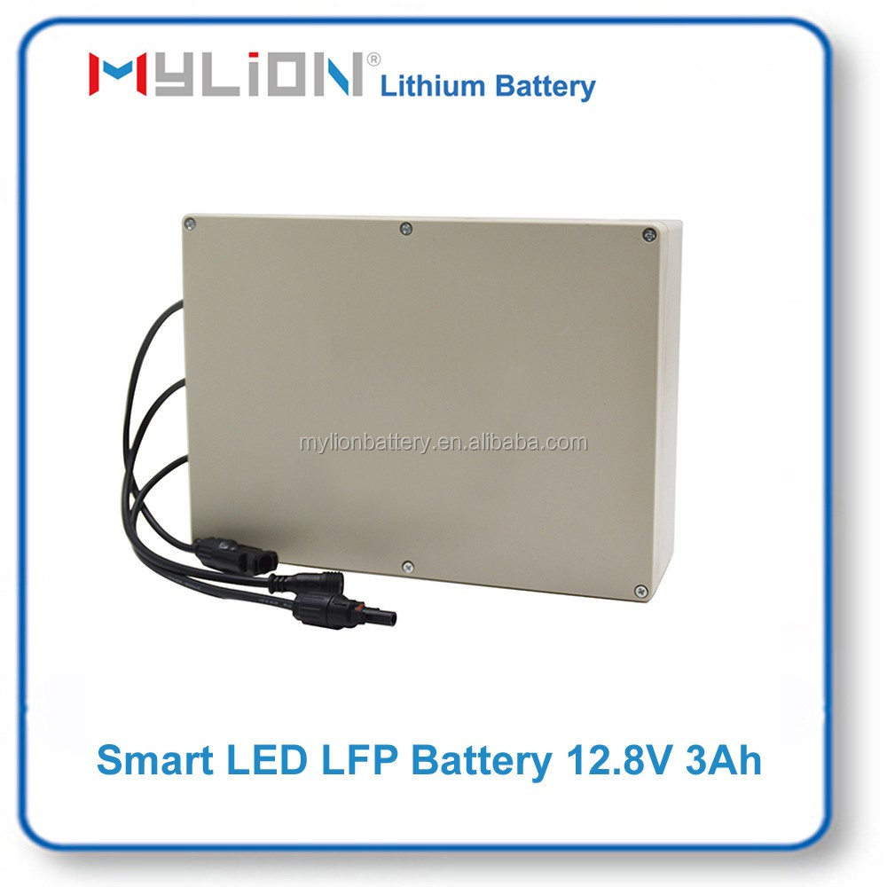 Mylion lifepo4 battery pack 12.8V 3ah for Solar LED & UPS