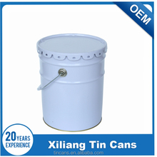 10 Liter paint can, tin bucket with mental lids and handle