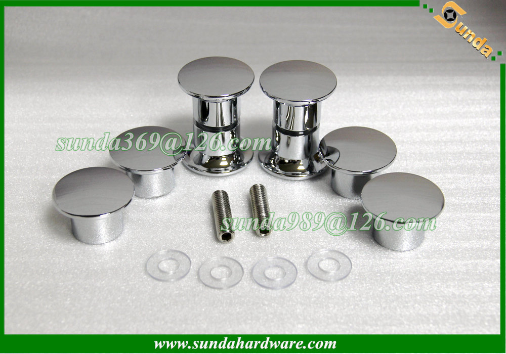 aluminum chrome shower door handle