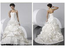 suzhou white popular low price 2012 wedding dress SJ0829