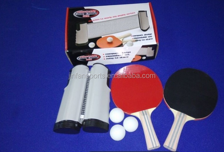 Expandable retractable table tennis net for ping pong table