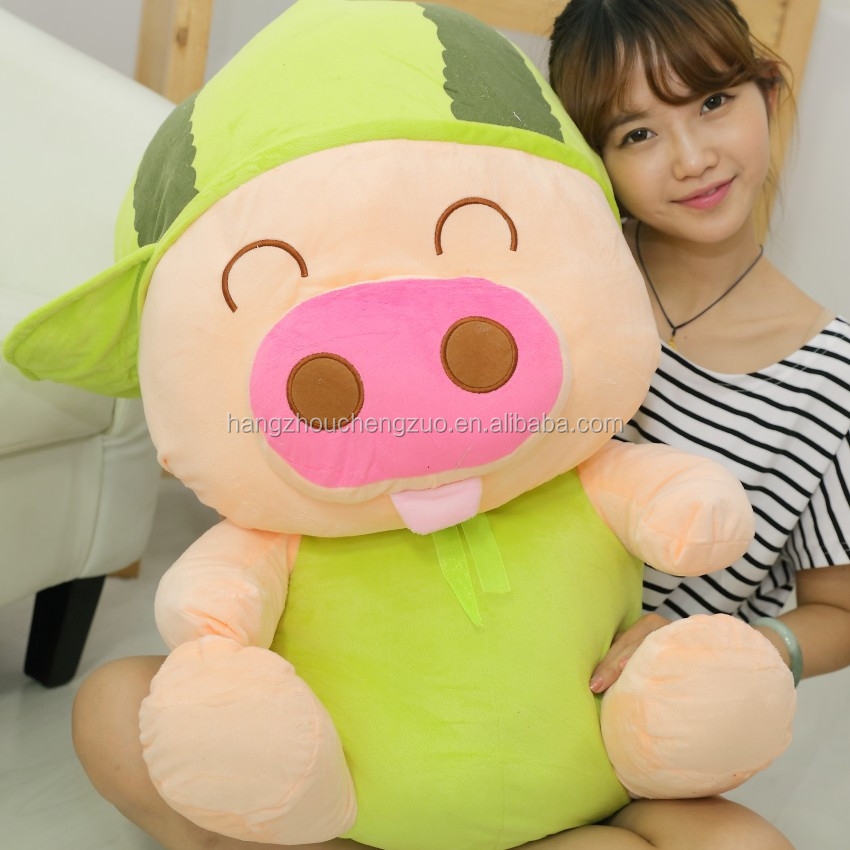 Hot Selling 80cm Height Cuttest Plush Pig Toy As Funny Gift for Kids,CZB-026B Soft Plush Toy Pink Pig