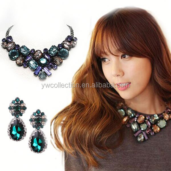 zinc alloy statement necklace, replica brand jewelry, lips necklace