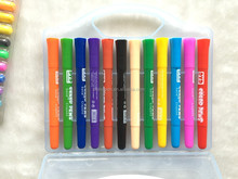 Hot-selling solid crayon colors pen highlighter crayon