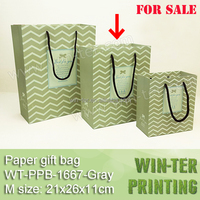 WT-PPB-1667-Gray(M size) New! luxury paper shopping bag wholesale