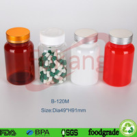 supplier pharmaceutical plastic bottles 120ml pea protein powder nutrition food aid packs bottles