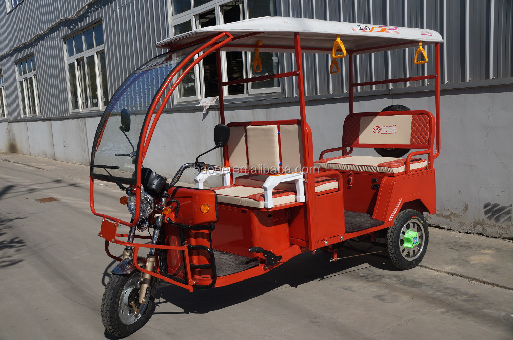 cargo truck tricycle, electric rickshaw for passenger seat