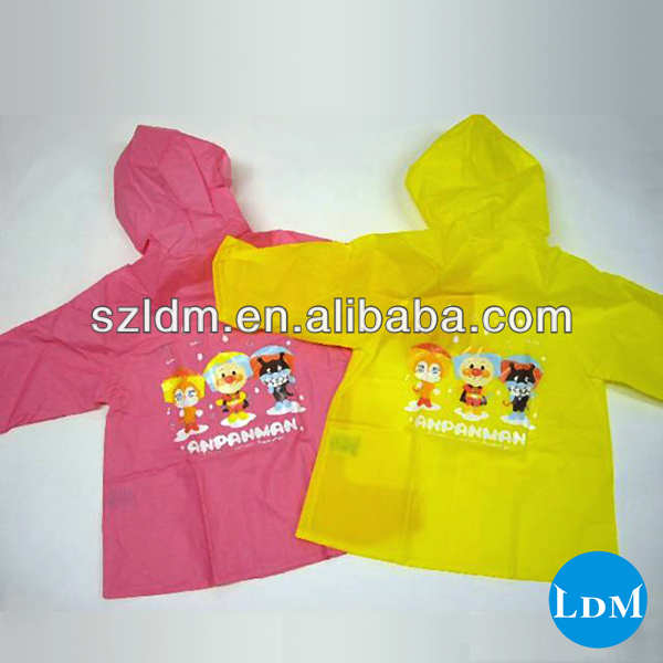 100% Pvc Raincoat Material Two Piece Raincoat For Kids