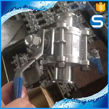 sanitary 304l polished high temperature high pressure ball valve