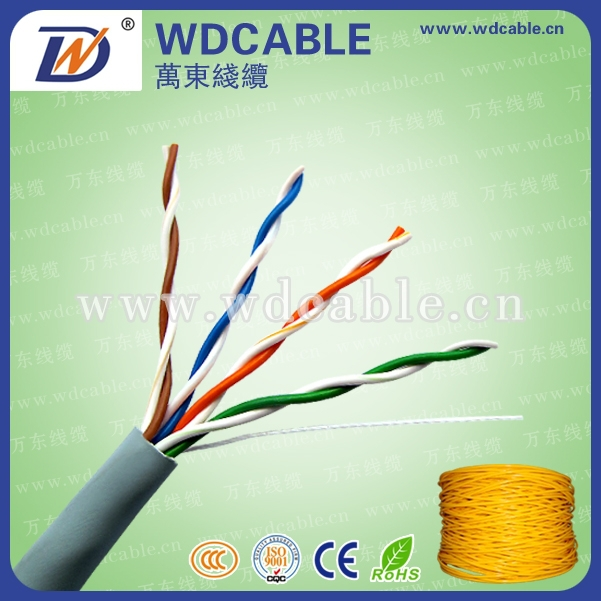 Excellent Adaptability Bare copper utp cat5e network cable with various color for your choice