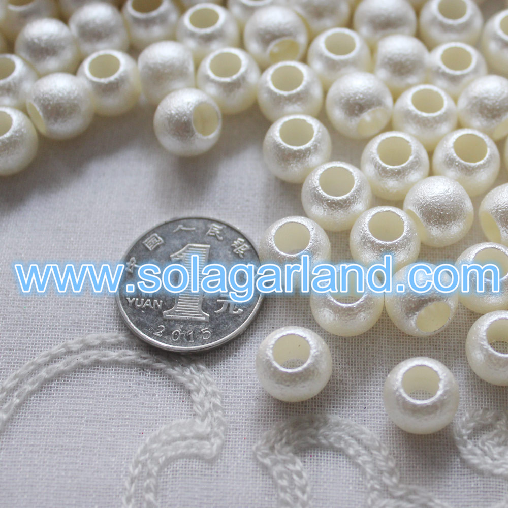 Wholesale 10*12MM Acrylic Plastic Pearl Beads 6MM Large Hole European Pearl Beads