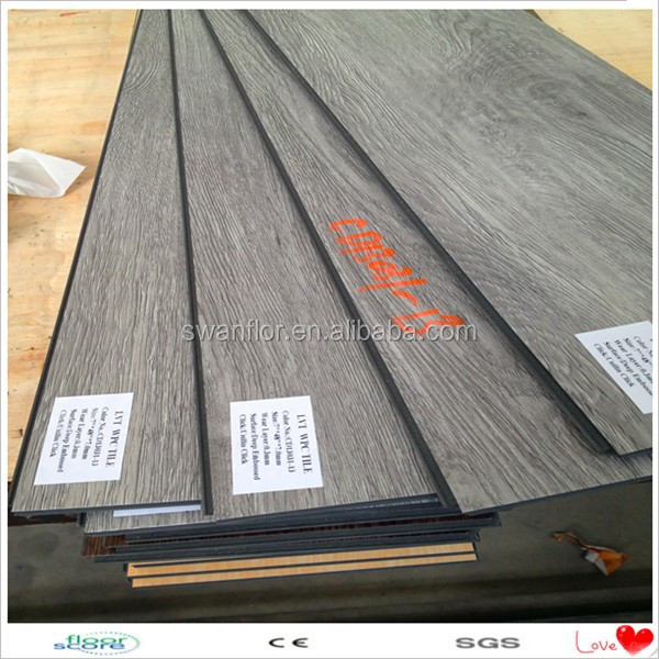 Recycled Wood Look Rubber Flooring Materials Unilin Click System Vinyl Plank Flooring Pink Vinyl Floor