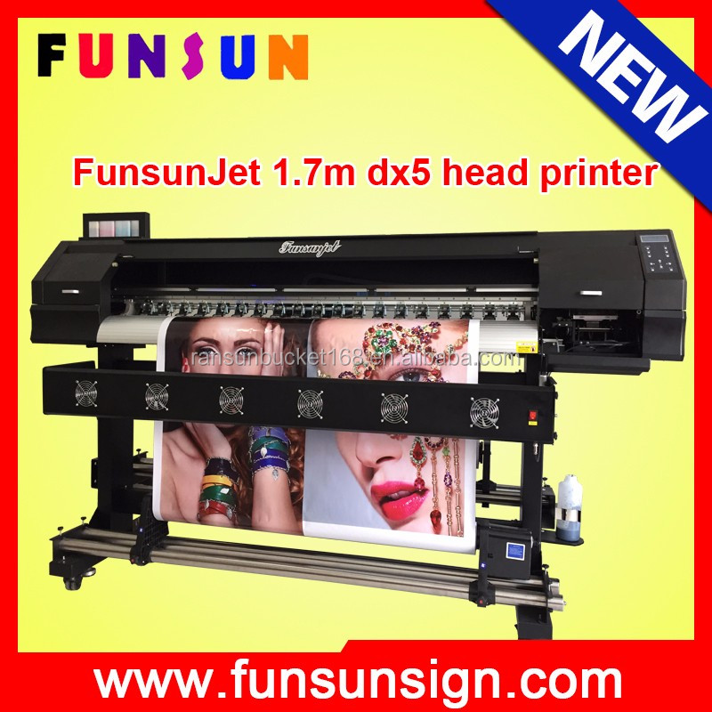 Large format 1440dpi FunsunJet FS-1700H 1.7m flex printing machine with dx5 head for vinyl sticker printing