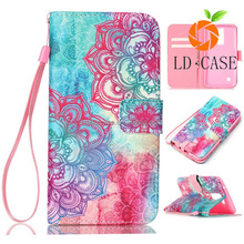 Crazy Horse Skin Pouch Case Leather Cover Flip Wallet Case for LG L3 L5 L7 L9