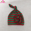 Red Green Striped Christmas Toddler Kids Hats Girl & Boy Unisex Hospital Baby Caps Infant Cotton Knit Knotted Beanie Hat
