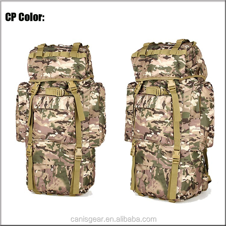 2016 OEM 65L Super Light Camping Hiking Trekking Camo Heavy Duty Molle Assault Pack Camo Backpack