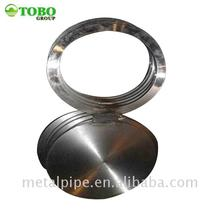 Ansi b16.5 blind flange a182 f304 blind flange a105 carbon steel forged spectacle blind flange class300