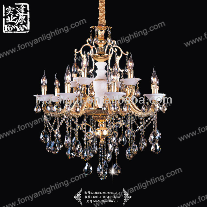 simple gold style candle chandelier new model MD2013-8+4