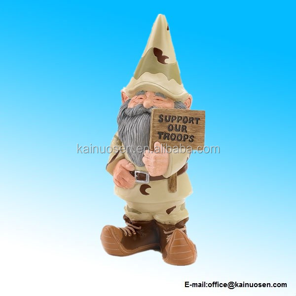 Gifts & Decor Support Our Troops Gnome Patriotic USA Garden Outdoor Statue